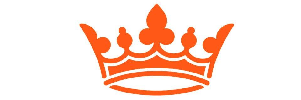 Oranje Koningsdag kroon