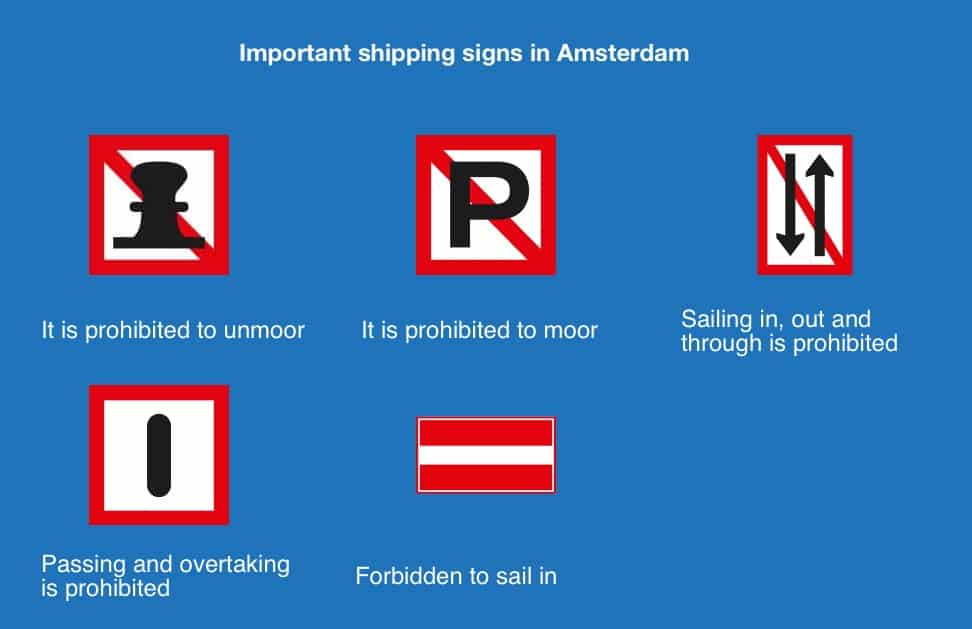 Boating regulations and navigation rules Amsterdam