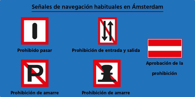 señales de navegación en amsterdam